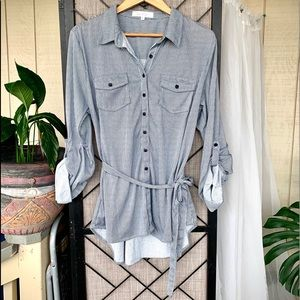 Eden and Olivia Long Sleeved Striped Dress XL